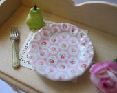 Pink Provence Dollhouse Plate