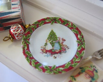 Christmas Celebration Dollhouse Plate