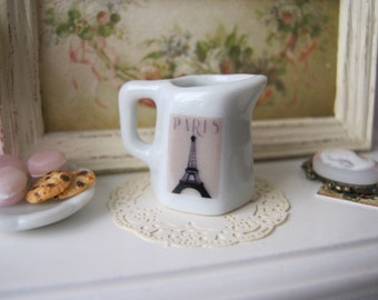 Eiffel Poster Jug for Dollhouse