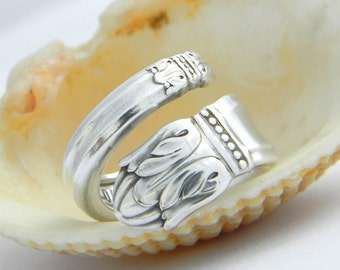 Spoon Ring - Danish Princess 1938 Antique Silverware Jewelry