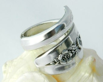 Antique Spoon Ring  - Primrose 1952 - Silverware Jewelry