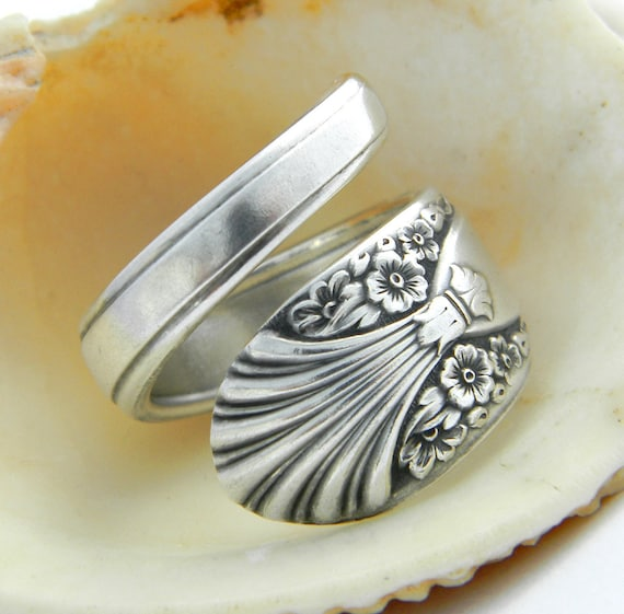 Spoon Ring, Radiance 1939, Antique Silverware Jewelry