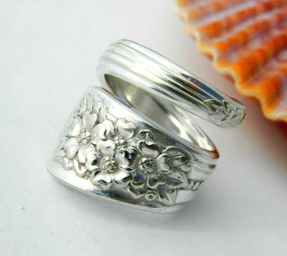 Spoon Ring, Silverware Jewelry, Silver Belle 1940