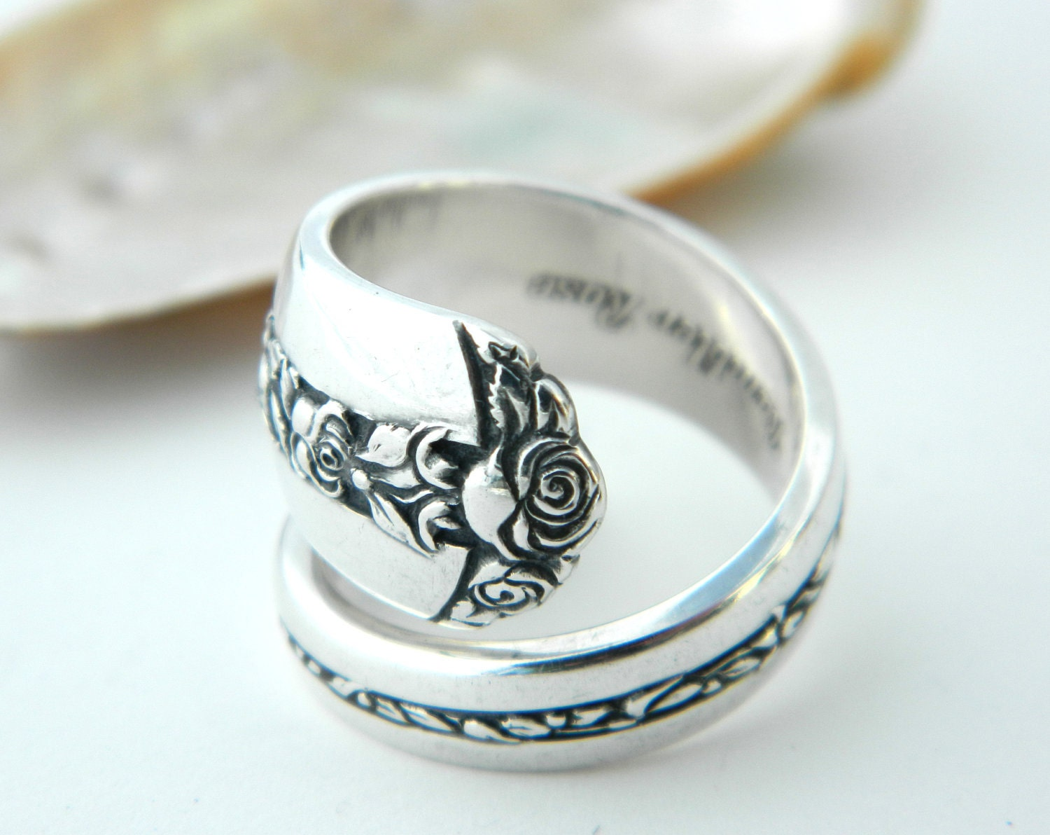 sterling silver spoon ring rambler towle 1937