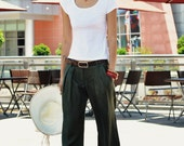 Casual Wide Leg Pants in Army-green - NC049