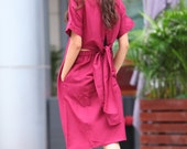 ON SALE 71% OFF Graceful Wine Red Bare Waist Flying Belt Long Dress - NC308