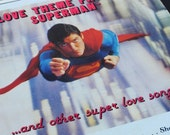 Vintage Superman 1984 Christopher Reeve Sheet Music Book, Movie Cover Art