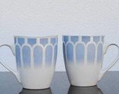 Royal Norfolk Mug Cups, Blue & White Vintage Coffee Cup Set