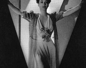 Art Deco Joan Crawford Hollywood Photo Stock Card, Unused Black & White Vintage Decor to Frame