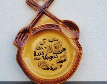 Las Vegas Vintage Souvenir Ashtray, Slots, Dice, Casino Collectible
