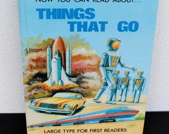 "Vintage Childrens Book First Reader, Illustrated ""Things That Go"", 1985 Brimax England"
