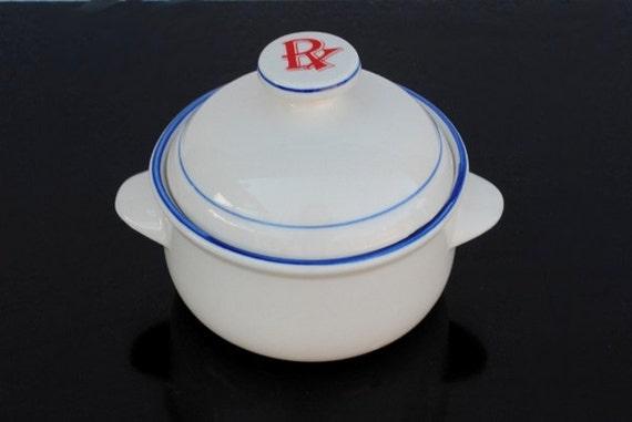 Vintage Drug Store Advertising Candy Bowl, Apothecary Jar Display
