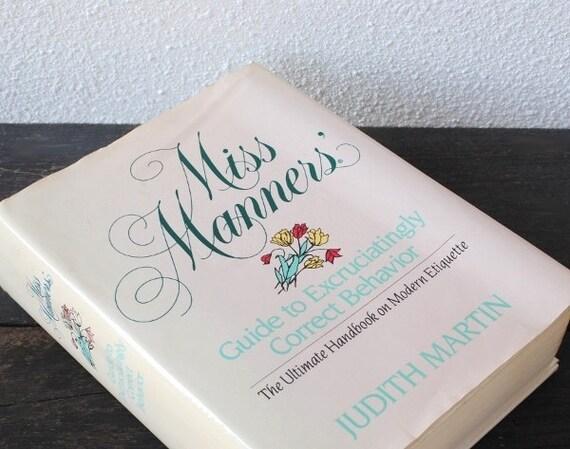 Miss Manners Wedding Etiquette: Vintage Book Of Etiquette Judith Martin Miss