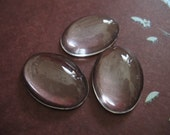 100 pcs Bulk, 18x25 mm, Crystal Clear Glass Oval Cabachons..   jewelry pendants magnets pins keepsakes  ..  caboval18..