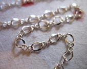 SILVER BRASS Chain, Figure 8 Chain, 10 feet ft Bulk, 4.25x3 mm,  .. wholesale sale.. soldered links.. feminine girley pretty .. BCfig8