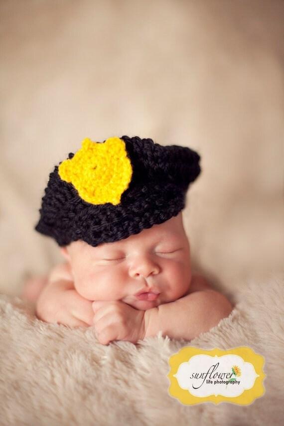 Newborn Police Hat