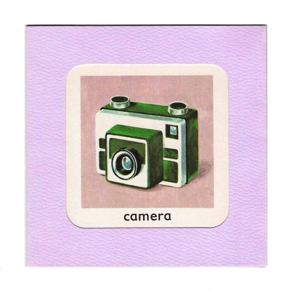 Retro Camera - Recycled Vintage Book Greetings Card