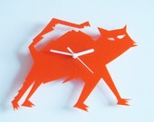 Violet the orange Cat acrylic wall clock (very last one)