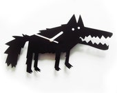 Big Bad Wolf black acrylic wall clock   (last ones)