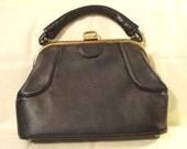 vintage mad men leather handbag