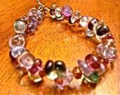 Beautiful Colors Bracelet - Woven Colors - Bracelet of Beads-Ready to Ship
