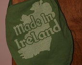 Messenger bag, Recycled t-shirt Made in Ireland