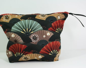 Accessory Bag, Japanese Fan Print