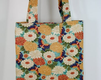 Flowers and Butterflies Tote