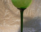 Retro Italian Art Glass Oversized Balloon Goblet Vase --Reserved for Debby--