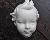 Vintage White Child Head Wall Hanging Decor