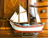 Vintage Ship Model Metal Boat Vintage Toy Model