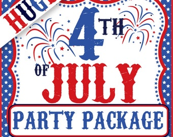 4TH OF JULY Party Package - Special Offer - Only 8.50USD - Print Yourself