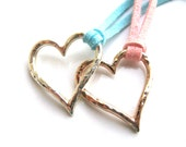 Heart Necklace on Suede Cord. Choose Your Color