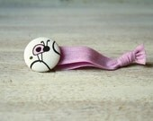 Pink Lady Bug Hair Tie