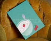 """Bowl of Cheerios Cereal with Strawberries, """"Best Meal of the Day"""", Painting Print ( 8x10 )"""