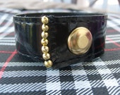 Black and Brass Upcycled Handmade Cuff