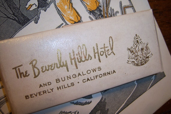 Vintage Beverly Hills Hotel Sewing Kit