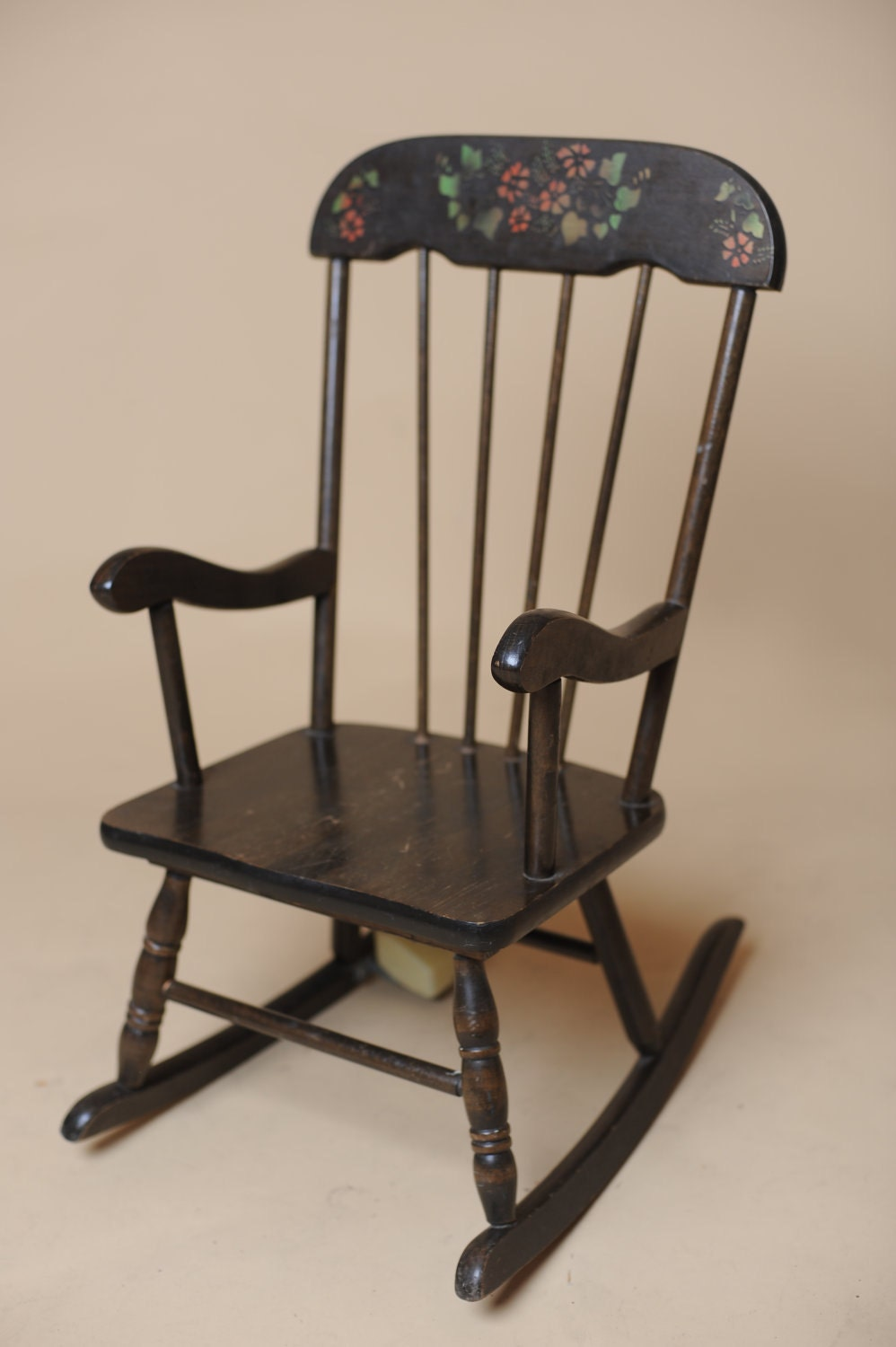 Childrens Wooden Musical Rocking Chair Vintage By