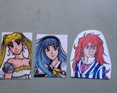 Anime Character magnet: Serenity, Umi, or Fujimoto