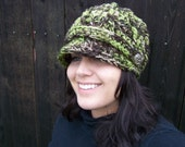 Women's Camo Hat- Newsboy- Made to Order