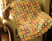 RETRO Handmade Crochet Lap Throw, Baby Blanket or Wall Hanging