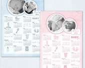 2012 Baby Calendar- Photoshop PSD layered Templates for Photographers