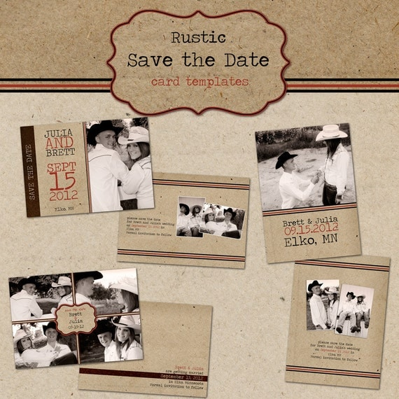 Items similar to rustic save the date cards digital for Electronic save the date templates