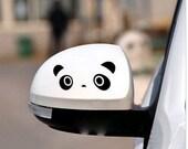 Graphic Car Mirror Notebook Window Decal Sticker Panda 1pair