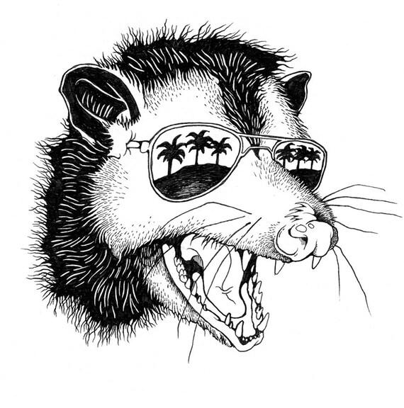 Opossum /// Ink on Paper