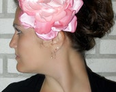 Pink Graduated Color Oversized Peony - Flower Clip - Fascinator - Bridal - Races - Flower Pin