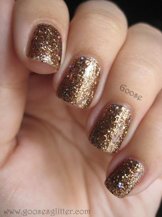 NEW Beautiful Chataigne: Custom-Blended Nail Polish Glitter Nail Polish/ Indie Lacquer / Paris Sparkles