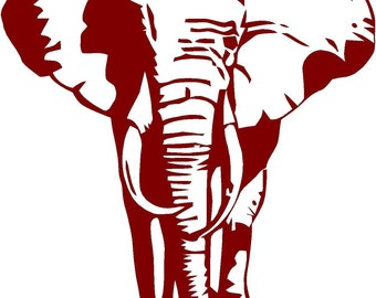 Vinyl Wall Decal  -  Elephant 20x20