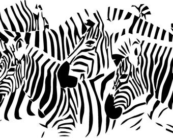 Vinyl Wall Decal  -  Zebra's
