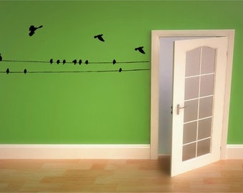 Bird Wall Decals - Birds on A Wire and In Flight